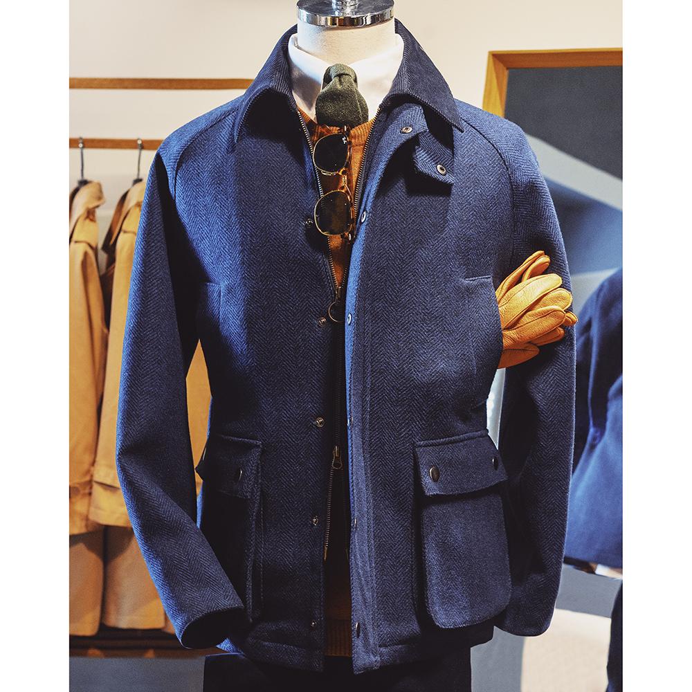 复古经典TWEED狩猎外套 多口袋工装军旅夹克英伦粗花呢羊毛猎装男