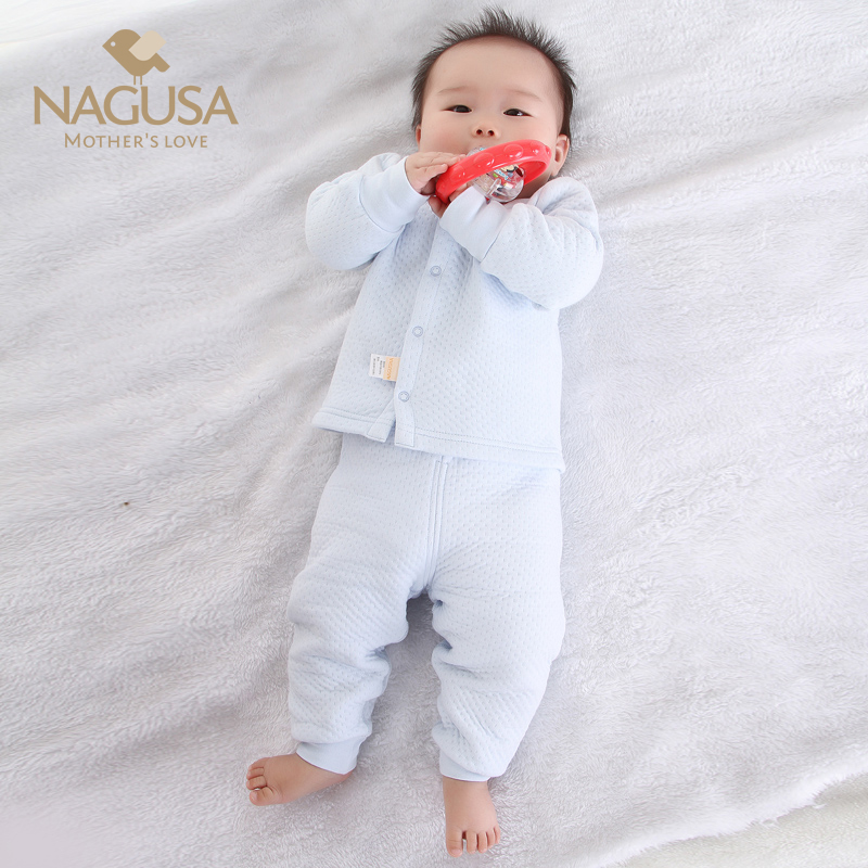 初生婴儿新生儿衣服儿童保暖内衣套装加厚秋冬季男女宝宝秋衣纯棉