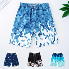 Swimming trunks men's flat-angle five-cent beach trousers anti-embarrassment men's swimsuit loose size hot spring swimming trunks swimming equipment