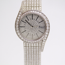 Shanghai second-hand authentic Earl LIMELIGHT series G0A38164 platinum inlaid with diamond watch