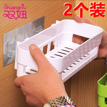 Toilet rack wall-mounted bathroom shelf free punching toilet suction wall suction cup bathroom storage tripod