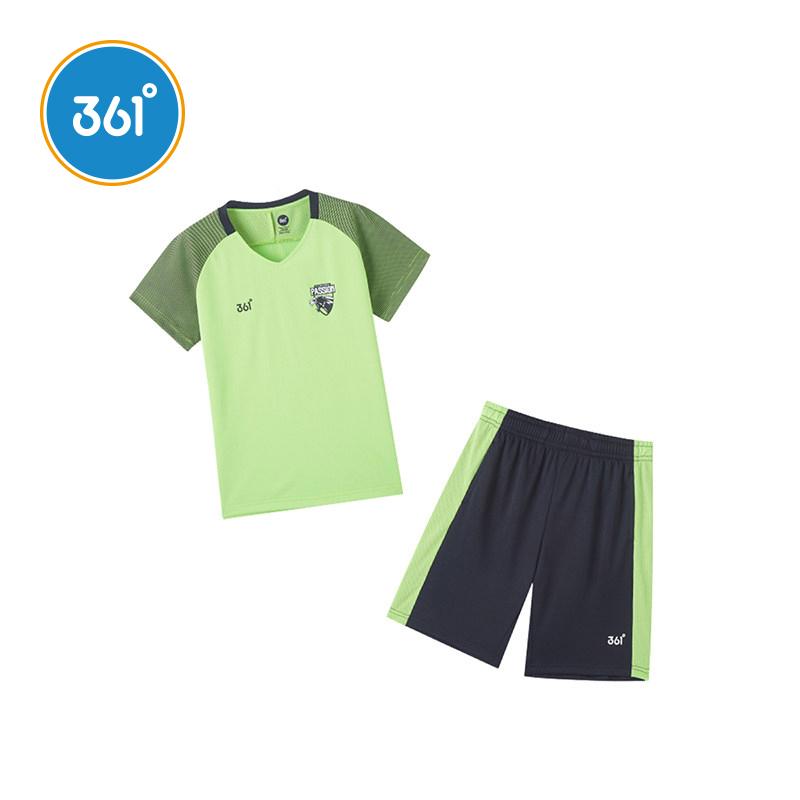 361童装 男童足球套装2020夏季新款透气速干短袖短裤两件套比赛服