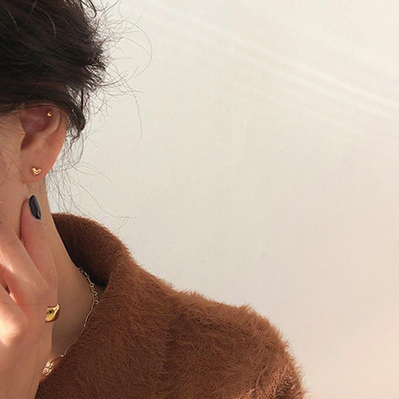 甜酸饰品925银针睡觉不用摘的耳钉2019新款潮小简约气质韩国耳环