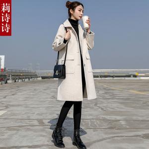 小个子中长款赫本风毛呢外套女2020秋冬季新款加厚流行呢子大衣女