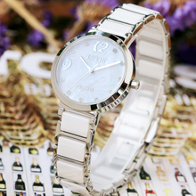 Genuine green ceramic, Korean version, leisure white watch, waterproof 2017 new fashion trend student quartz watch