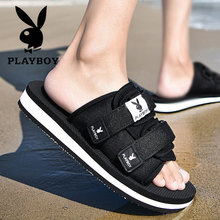 Playboy slippers Men wear sandals for summer outdoors