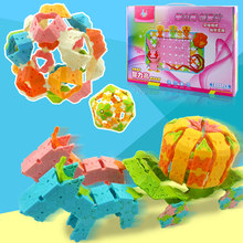 Play Hui Hui Le Intelligence High Creative Pieces Building Block Plastic Insertion Puzzle Toy Space Construction