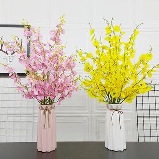 跳舞兰仿真假花塑料插花假花绢花室内装饰花干花摆设客厅摆件花艺