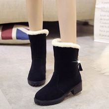 Winter female snow boots Warm Large Size Cotton boots snow boots