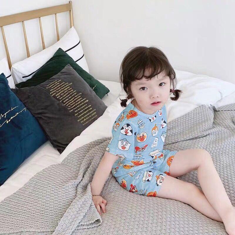 2020夏季新款儿童睡衣男童女童小孩家居服薄款空调服宝宝上衣套装