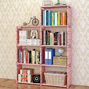 亚思特简易书架加固书柜现代简约桌上书架置物架 自由组合层架