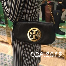 American Buy Tory Burch Bag TB Oil Wax Leather Handbag Saddle Bag Chain Slant Bag Dinner Bag