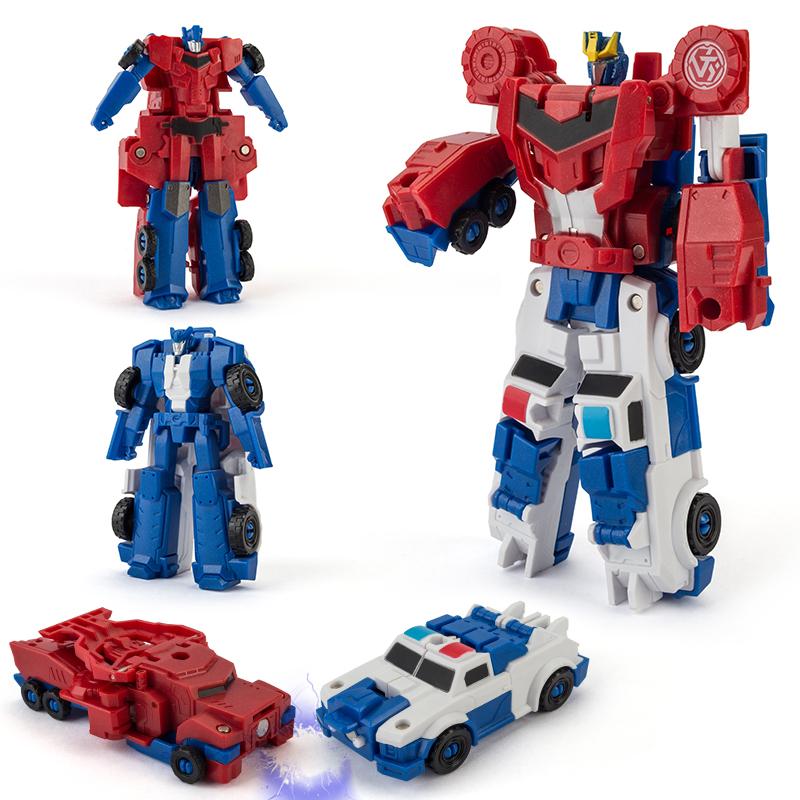 变形玩具金刚 一步合体变身擎天黄蜂汽车机器人男孩儿童碰撞模型