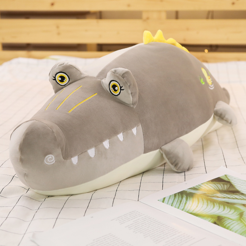 Crocodile pillow long plush toy large doll sleeping pillow cute sprout girl lazy bed doll