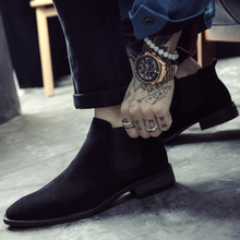 Chelsea boots men's Leather Suede men's shoes high boots and short boots trend British Martin boots men's all-in-one boots