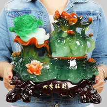 Pomp, brave and brave, decoration, jade, cabbage, fengshui, living room, home decoration, shop opening, craft gifts.