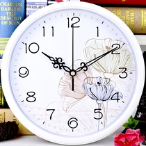 Mute wall clock living room office modern creative Watch round clock simple cartoon hanging table fashion quartz clock