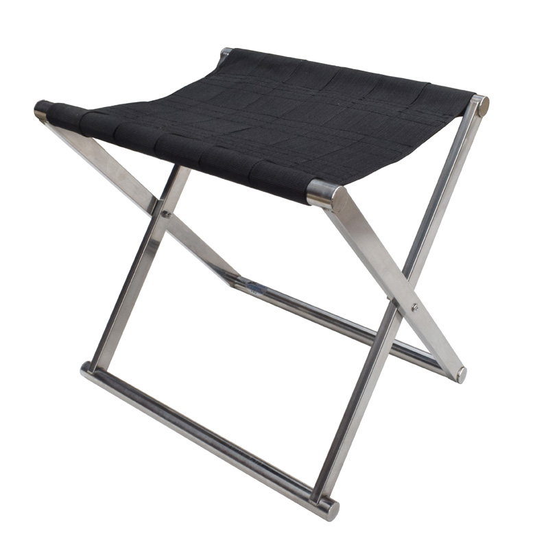 Anti-trump folding stool thickened stainless steel children's Mazza adult outdoor fishing chair stool square tube small medium plus number