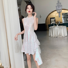 The net red dress skirt can usually wear the banquet temperament party dress small fairy dream dress
