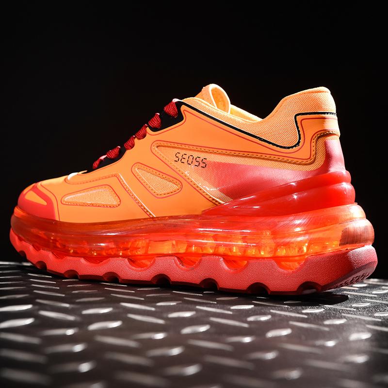 国潮ins网红鞋子韩版全掌气垫增高老爹鞋男减震运动跑步鞋5代潮鞋