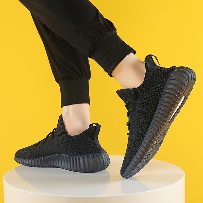 运动鞋男上班鞋子初代潮流百搭新款2019男士老爹鞋纯黑色休闲潮鞋