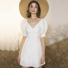 French mini-dress can be worn at ordinary times with elegant temperament and noble Mori super-immortal birthday party dress concise waist-collecting banquet