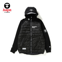 Aape Men's Wear Fall and Winter 3M Hat eaves Stitching Alphabet Printed Arm Seal Jacket Jacket 7198XX9/FW