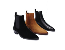 Hand-made Gaoding HEDI style layered along TUSCANY leather outsole CHELSEA Chelsea men's boots