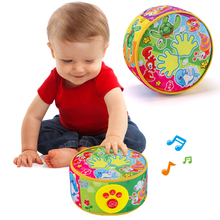 Baby hand drums 0-1 years old 3-6-12 months old children electric cloth music beat drums newborn baby toys