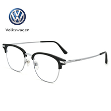 German Volkswagen VOLKSWAGEN retro whole frame with finished myopia frames, pure titanium men's and women's full frame glasses