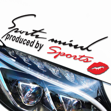 Auto supplies light brow car stickers creative body exterior decorative stickers garland hood modified car decals personality