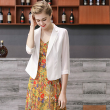 Chic small suit jacket women's thin Chiffon 2019 new Korean OL professional suit jacket short summer Baitie