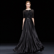 Simple and generous dress women new style of skinny noble elegant chorus conductor performance evening dress skirt long style