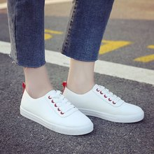 Female White Shoe Female 2019 New Sports and Leisure Single Shoes
