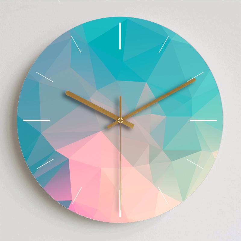 現代簡約夢幻鐘表客廳掛鐘創意北歐靜音個性臥室裝飾大號石英時鐘
