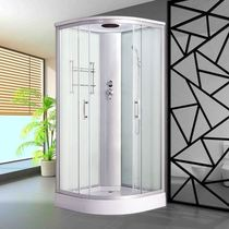 Shower room bathroom household bath room bathroom fan-shaped tempered glass partition steam integrated bathroom