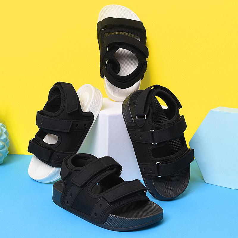 儿童拖鞋夏家居亲子宝宝男童凉拖鞋防滑软底小孩女童魔术贴拖鞋