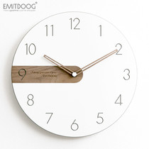EMITDOOG modern minimalist Nordic wall clock living room bedroom artist with silent clock creative fashion watch