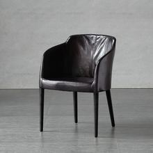 Nordic expression/European import/objectum/pure series/COEU Retro Leather armchair/dining chair