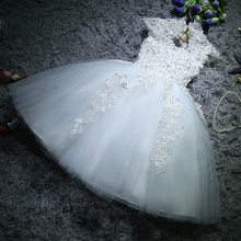 Children's Dresses Princess Pengpeng Skirt Flower Girl's Wedding Garment Birthday Piano Host Dresses Evening Dresses White Summer