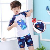 df8cf8b1a9aa7 Two sets of male baby Tide shirt children swimsuit boy split 2019 South  Korea cute Korean