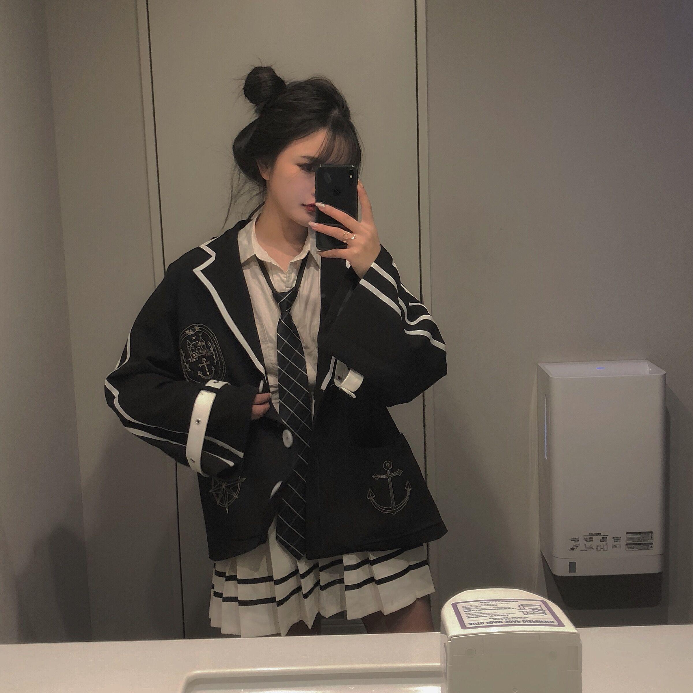 【森女想去海边】秋冬少女复古甜美气质学院风软妹套装