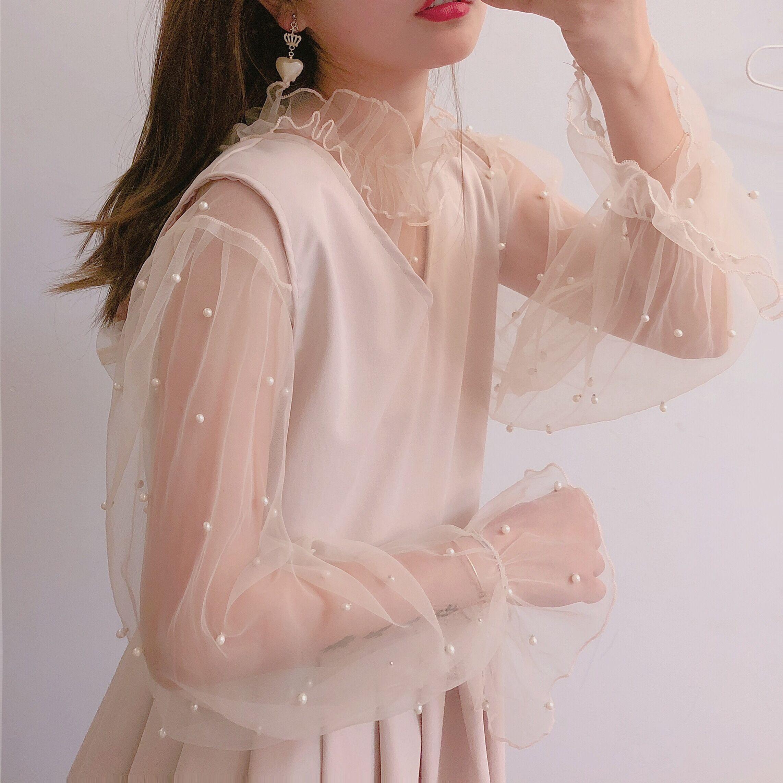 【森女想去海边】暖暖冬系列珍珠优雅打底