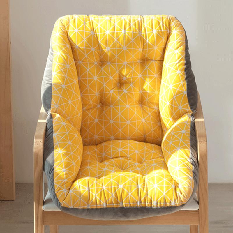 坐墊辦公室久坐椅墊靠墊一體椅子靠背墊臥室地上凳子座墊冬季毛絨