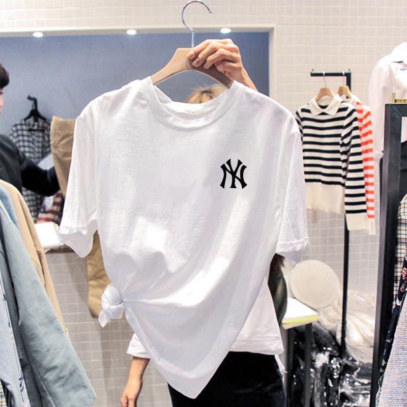纯棉白色T恤女春秋装宽松大码内搭打底衫夏季2020年新款短袖上衣