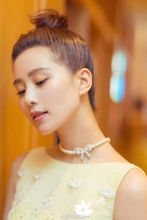 Liu Shishi with the pearl necklace, bow knot buttons, DIY jewelry accessories, micro bracelet, chain buckle, 925 silver buttons.