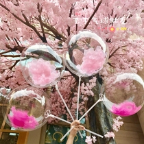 INS net red Balloon feather petals transparent Bobo ball birthday party party decorate wedding decorative push