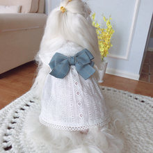 KZ small white skirt pure cotton hollow skirt pet dog dog cat spring and summer dress Teddy baby dog Princess Dress
