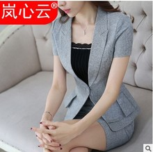 Professional Suit Suit Women Summer 2019 New Korean Edition Fashion Short Sleeve Jacket High-end Temperament Suit Skirt Suit