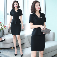 New skinny business dress, simple beautician's work clothes, two-piece skirt business dress